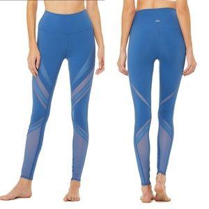 NWT ALO Yoga High Waist Epic Cobalt Mesh Leggings